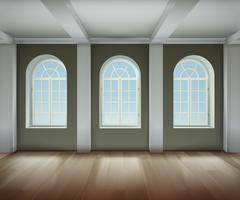 Illustration de l'intérieur de la salle vecteur