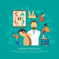 Concept de design d'ostéopathie vecteur