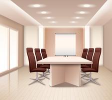 Intérieur de salle de réunion réaliste vecteur