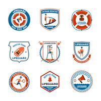 Ensemble d'emblèmes de sauveteur