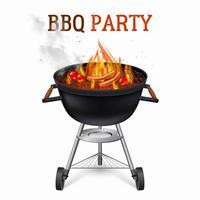 Illustration de barbecue portable vecteur