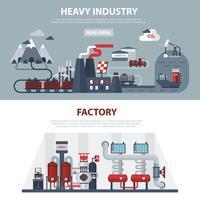 Bannières Energie Et Industrie vecteur