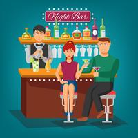 Concept de design de bar de nuit