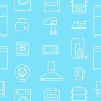 Seamless Pattern lignes appareils ménagers vecteur