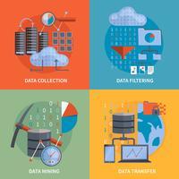Concept de design 2x2 pour le traitement des données vecteur