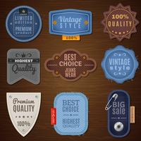 icônes d'étiquette de jeans