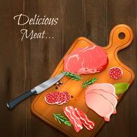 Fond de viande délicieuse vecteur