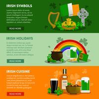 Irlande bannières horizontales vecteur
