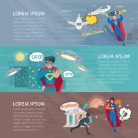 Ensemble de bannières de super-héros