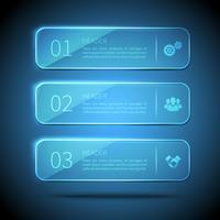 Plaques de verre d'infographie