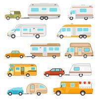 Ensemble d'icônes de véhicules de loisirs vecteur