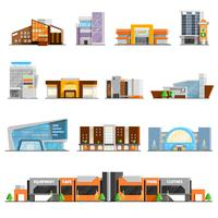 Centre commercial Icons Set