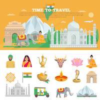 Set de voyage Inde vecteur