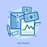 Yen Finance Illustration conceptuelle Design