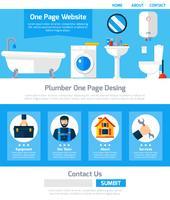 Service de plombier One Design de sites Web
