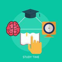Temps d'étude conceptuel illustration Design vecteur