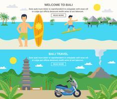 Bannières de voyage à Bali vecteur