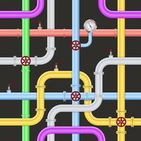 Modèle de pipeline industriel abstrait sans soudure vecteur