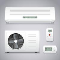 Ensemble de climatiseur vecteur