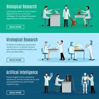Bannières horizontales scientifiques