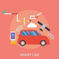 conception illustration conceptuelle voiture intelligente