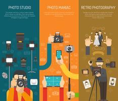 Jeu de bannière de photographie vecteur