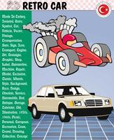 Voiture, voiture rétro, histoires de voitures, eps, vecteur