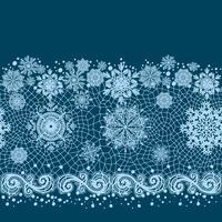 Modèle sans couture de ruban de dentelle abstraite avec des fleurs d'éléments. Modèle de cadre pour la carte. Napperon en dentelle. vecteur