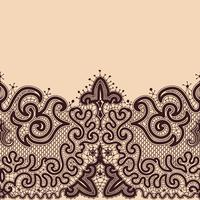 Seamless Pattern de ruban de dentelle abstraite.
