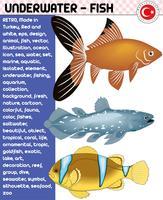 Poisson, espèce de poisson - vie sous-marine, vecteur eps