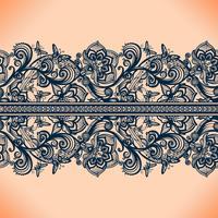 Abstrait point ajouré sans couture avec fleurs et papillons.
