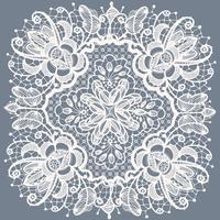Motif de dentelle florale Abstraction vecteur