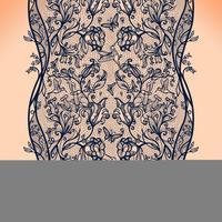 Abstrait point ajouré sans couture avec fleurs et papillons. Papier peint infiniment, décoration pour votre design, lingerie et bijoux.