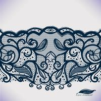 Motif de dentelle transparente. Illustration vectorielle
