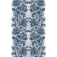 Modèle sans couture de ruban de dentelle abstraite avec des fleurs d'éléments. Modèle de cadre pour la carte. vecteur