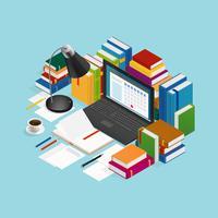 Illustration pédagogique de livres éducatifs vecteur