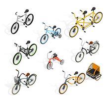 Ensemble isométrique de cycles de poussée vecteur