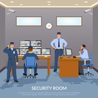 Illustration de la salle de sécurité vecteur