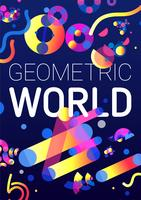 Fond créatif du monde géométrique vecteur