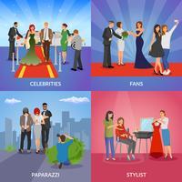 Concept de design Celebrity 2x2 vecteur