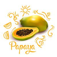 Composition de Doodles Around Papaya