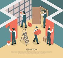 Illustration de rénovation isométrique