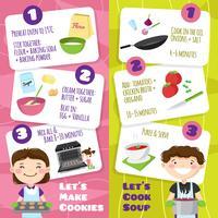 Cuisiner avec des enfants vecteur