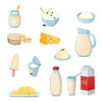 Ensemble de produits laitiers
