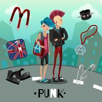 Composition de sous-culture punk vecteur