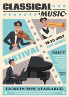 Affiche de bande dessinée de musique