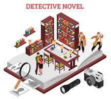 concept de roman policier vecteur