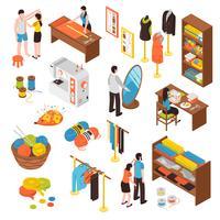 Atelier Studio Isometric Icons Set vecteur