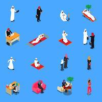 Ensemble isométrique de personnes arabes
