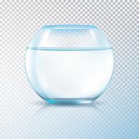 Bocal à poissons eau claire transparente